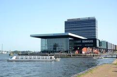 Modern byggnad i Amsterdam Nederländerna Arkivbilder