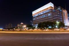 Modern byggnad i Gurgaon Arkivbilder