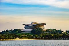 Modern byggnad i Putrajaya, Malaysia Fotografering för Bildbyråer
