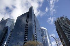 Modern byggnad i stadens centrum Vancouver Arkivfoton