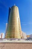 Modern byggnad på den Nurzhol boulevarden i Astana kazakhstan Arkivbilder