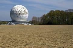 Modern byggnad, radarkupol Radom, Tyskland Royaltyfri Fotografi