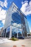 Modern byggnadsarkitektur av Olivia Business Centre i Gdansk Royaltyfri Foto