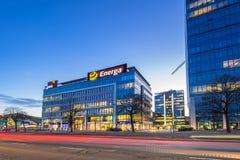 Modern byggnadsarkitektur av Olivia Business Centre i Gdansk Royaltyfri Bild