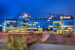 Modern byggnadsarkitektur av Olivia Business Centre i Gdansk Royaltyfria Foton