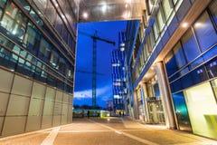 Modern byggnadsarkitektur av Olivia Business Centre i Gdansk Royaltyfri Fotografi