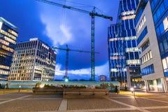 Modern byggnadsarkitektur av Olivia Business Centre i Gdansk Arkivbild
