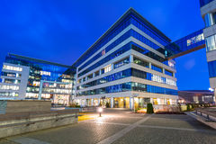 Modern byggnadsarkitektur av Olivia Business Centre i Gdansk Fotografering för Bildbyråer
