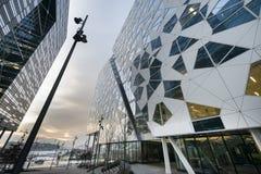 Modern byggnadsarkitektur i Oslo Arkivbilder
