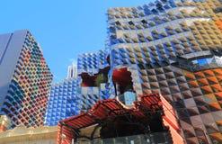Modern byggnadsarkitektur Melbourne Australien Arkivbilder