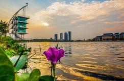 Modern byggnadssoluppgång, Putrajaya VII Fotografering för Bildbyråer