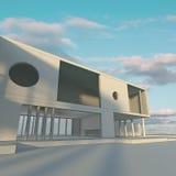 Modern byggnadsstruktur stock illustrationer