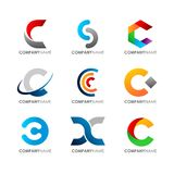 Modern C logo. A simple ,clean and modern logo Stock Photo