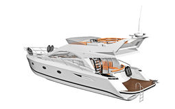 Modern cabin cruiser boat Stock Image