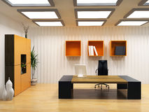 Modern cabinet interior Stock Images