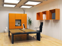 Modern cabinet interior Royalty Free Stock Images