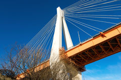 Modern Cable Bridge Stock Photo