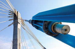Modern cable bridge pylon Royalty Free Stock Photography