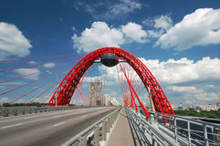 Modern cable-stayed bridge Royalty Free Stock Images