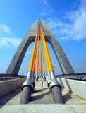Modern Cable-Stayed Bridge Stock Images