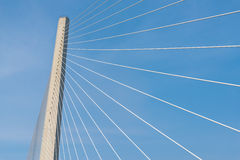 Modern cable stayed bridge. Royalty Free Stock Photo