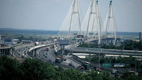 Modern cable-stayed bridge Royalty Free Stock Photo