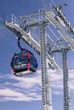 Modern cableway at High tatras, Slovakia Royalty Free Stock Images
