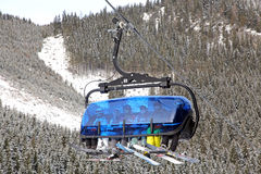 Modern cableway in ski resort Jasna, Slovakia Royalty Free Stock Photography