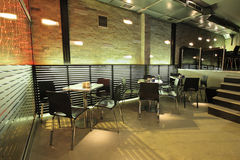 Modern café interior Royalty Free Stock Image