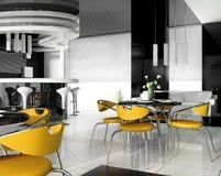 modern cafe royaltyfri illustrationer