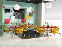Modern cafe Stock Image
