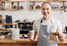 Modern cafe business Stock Image
