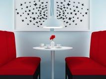 Modern cafe design. Royalty Free Stock Photos