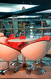 Modern cafe in  futuristic style Stock Photo