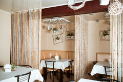 Modern cafe interior Royalty Free Stock Images