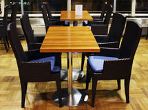 Modern cafe interior. Friendly but modern interior of a restaurant or cafe stock photography