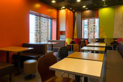 Modern cafe interior Stock Image