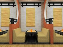 Modern cafe in Japanese style Royalty Free Stock Images