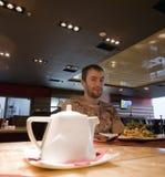 Modern cafe man Royalty Free Stock Photo