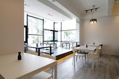 Modern Cafe or Restaurant. Interior of a modern cafe or restaurant royalty free stock photos