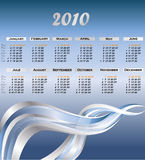 Modern calendar for 2010. Clip-art stock illustration