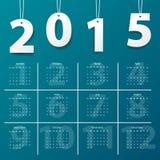 Modern calendar 2015 on dark background. Vector/illustration. Stock Photography