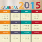 Modern calendar 2015 in paper background style.Vector/illust ration. Royalty Free Stock Photos
