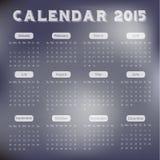 Modern calendar 2015 in paper background style.Vector/illust ration. Stock Image