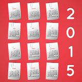 Modern calendar 2015 in a paper official style Stock Photography