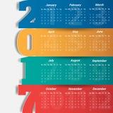 2017 Modern calendar template Vector Illustration