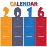 2016 Modern calendar template. Illustration Stock Image