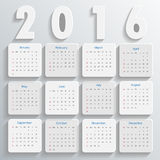 2016 Modern calendar template . Vector Royalty Free Stock Image