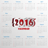 2016 Modern calendar template .Vector.  vector illustration