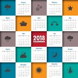 2018 Modern calendar template .Vector/illustration.  Stock Photography
